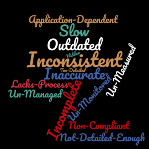 list of data challenges faced by agile billing - outdated, inconsistent, slow, un-measured, inaccurate, etc.