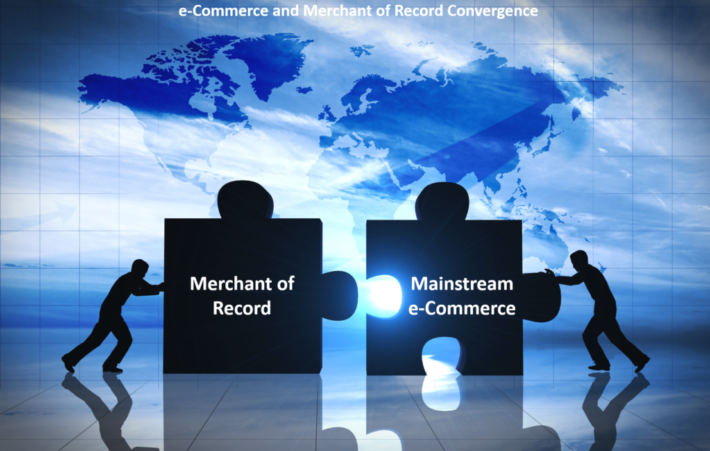 Puzzle pieces in front of a map of the world displaying the connection between Merchant of Record and eCommerce